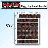Printfile 357B25 35mm Film Negative Storage Sheets 7 Strip - 2 Packs of 25