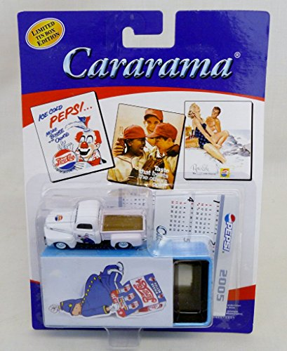Cararama 1:72 Ford Pick Up Pepsi Diecast Truck With Limited Edition Tin
