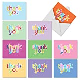 The Best Card Company M2363TYBsl 10 Assorted Blank Thank You Note Cards with White Envelopes