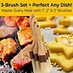Restaurant-Grade Boar Hair Pastry and Basting Brush Set of 3 (1, 2 and 3 Inch). Ultra-Fine Hardwood Flat Brushes for Spreading Butter, Egg Wash or Marinade to Pastries, Dessert, Bread Dough or Meat 13 MAKE BAKING A BREEZE WITH PRO-GRADE PASTRY BRUSHES! These restaurant-grade flat brushes are perfect for applying glaze or egg wash to bread dough and desserts. Grease pans and cookie sheets with ease! GENUINE HARDWOOD AND BOAR HAIR FOR NATURAL, DURABLE TOOLS. Equipped with a solid wood handle contoured for comfort, and boar hair bristles reinforced with a BPA-free plastic band for long lasting use. GUARANTEED FOR LIFE. We offer a No-Nonsense Lifetime Satisfaction Guarantee on all our kitchen supplies. If at any point you're not 100% happy, just send us an email, and we promise to make it right!