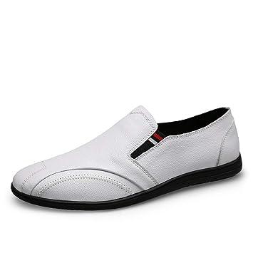 GPF-fei Zapatos de los Hombres Mocasines de Cuero del Zapato de los Guisantes Loafers