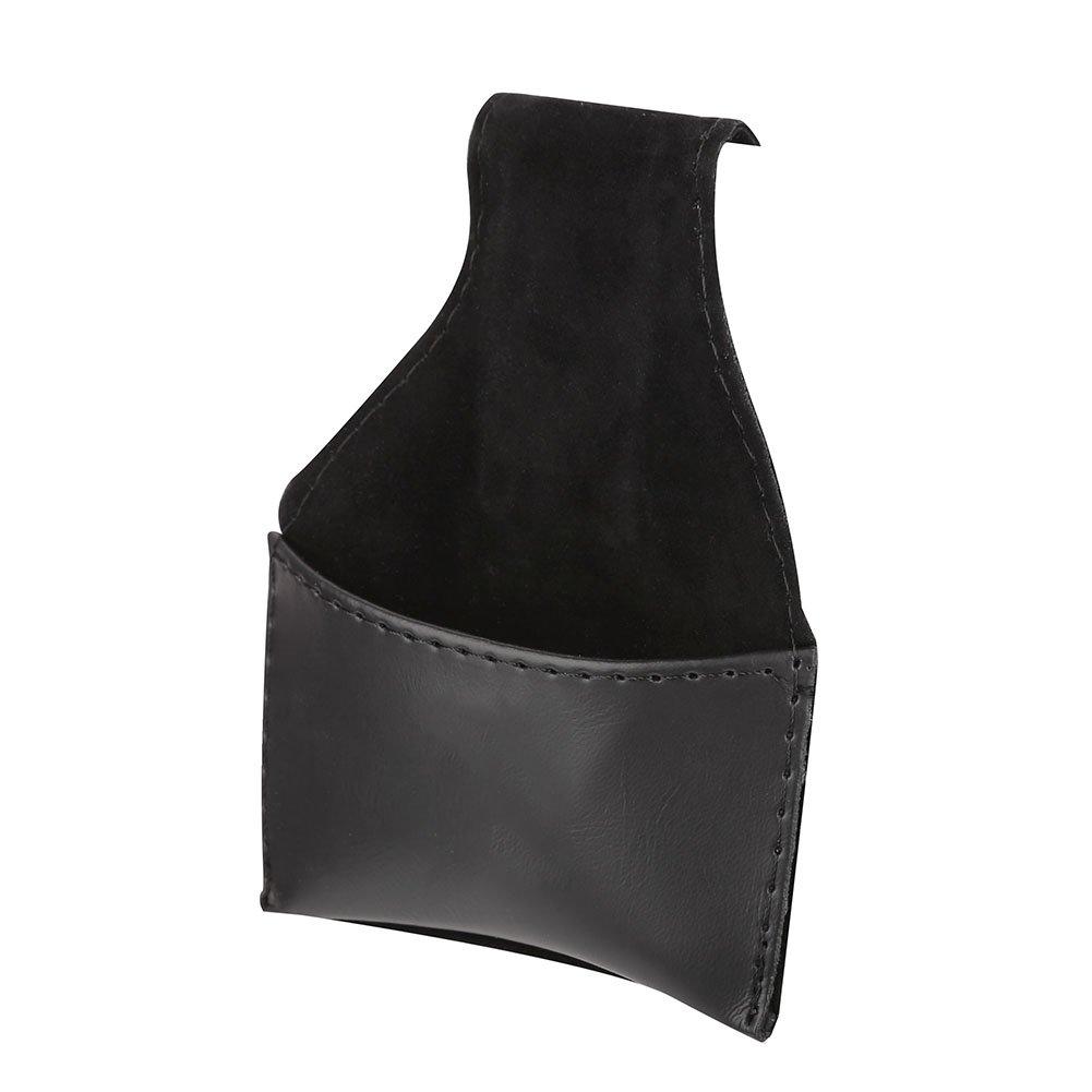 Tbest Snooker Billard Craie Sac PU Cuir Noir Cue Conseils Poudre Porte-Craie /étui Portable Pochette Sac Noir