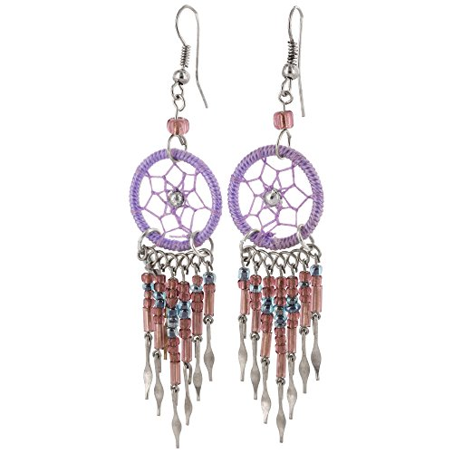 Dreamcatcher Earrings (Purple)