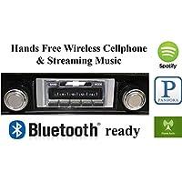 Bluetooth Enabled 1968 Chevy El Camino USA-630 II High Power 300 watt AM FM Car Stereo / Radio USB, Aux, iPod inputs