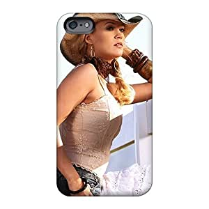 Shock-Absorbing Cell-phone Hard Cover For Apple Iphone 6 (EOI2112ycTz) Support Personal Customs Attractive Carrie Underwood Cowgirl Pictures