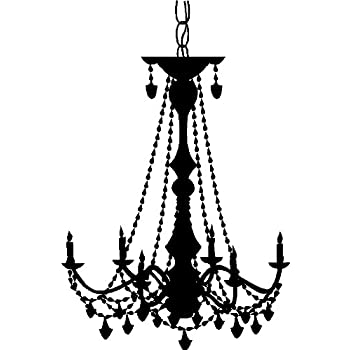 Amazon chandelier wall decal sticker removable wall art home chandelier wall decal sticker removable wall art home decor black aloadofball Image collections