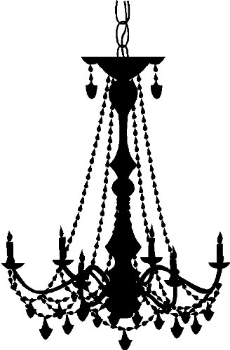 Amazon chandelier wall decal sticker removable wall art home chandelier wall decal sticker removable wall art home decor black aloadofball Gallery