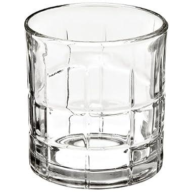 Anchor Hocking 68349 3-3/8 Inch Diameter x 3-1/2 Inch Height, 10.5-Ounce Tartan Rocks Glass (Case of 12)