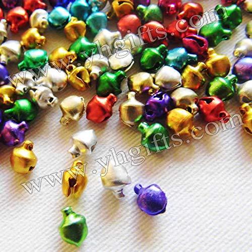 Dalab 10000PCS/LOT. 6mm Lacing Jingle Bells,Christmas Tree Ornament,Lacing Beads,Craft Material, Handmade Accessories.