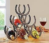 horseshoe wine holder - Western Horseshoe Wine Bottle Holder Table Top Rack Decor