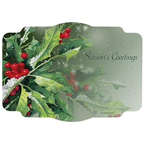 Holly And Berries Paper Placemats - 9.75 x 14 (50)