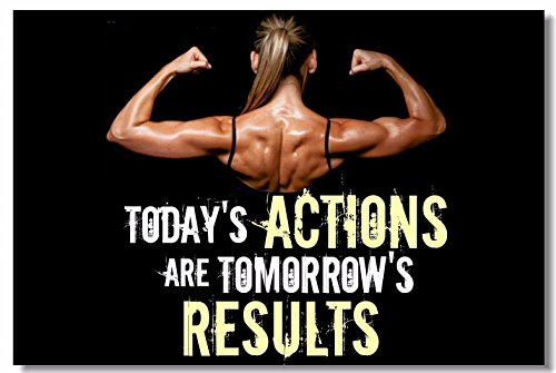 1x Poster Fabric Bodybuilding Men Girl Fitness Workout Quotes Motivational Inspiration Muscle Gym Font 35.5x23.5' (90x60cm) (026)