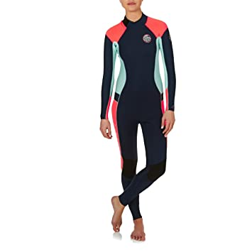 RIP CURL Womens Dawn Patrol 3 2MM Gbs Back Zip Wetsuit Navy -With Easy 690e3df0a93e