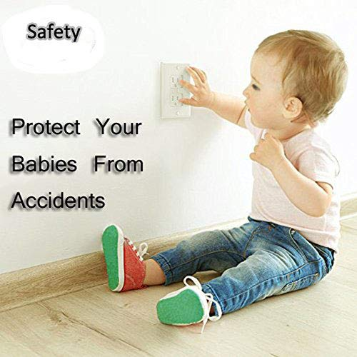 Electrical Outlet Covers Universal Self-Closing Outlet Plugs,Child Safety Guards Socket Plugs Protector,BPA Free,4 Pack, Hardware Included by MooMoo Baby (Image #4)