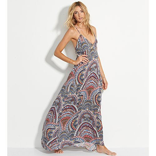Billabong Women's Places to Be Printed Maxi Dress, Multi, L