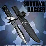 Etrading Black Fixed Blade Tactical Knife Dagger w/Survival Kits Compass and Nylon Pouch For Sale