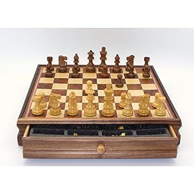 Worldwise Chess Set with Lardy Sheesham Men and Chest Drawer