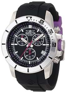 """Invicta """"11743"""" - Reloj cronógrafo de cuarzo para hombre con correa de caucho, color negro"""