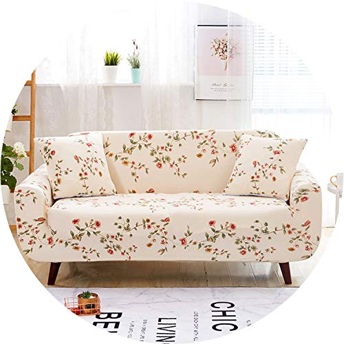 DATAIYANG Green Background Furniture Protector Sofa Stretch Tightly Wrap All-Inclusive Slip-Resistant Sofa Covers for Living Room 1pc,Color 2,Two-Seater (Furniture Wicker Ebay Cheap)