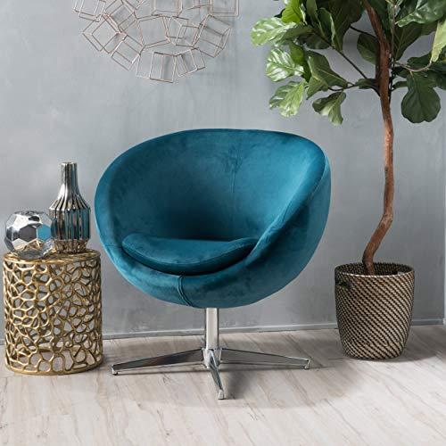 Christopher Knight Home Sphera Dark Teal Velvet Modern Chair