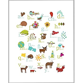 Amazon.Com: Spanish Alphabet Poster: Posters & Prints