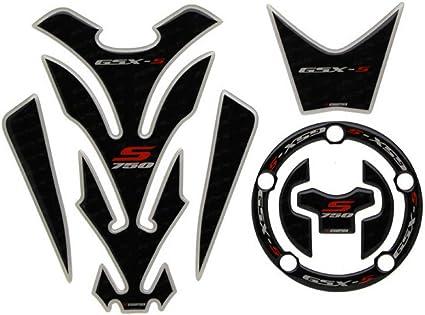 "2 pcs 3D Decal Tank Wheel Logo /""S/"" Sticker for Suzuki Carbon Fiber Emblem Badge"
