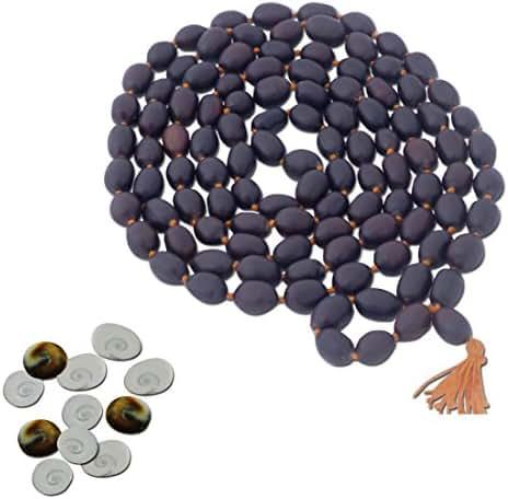 Ratnatraya Energized Set of 11 Pieces of Gomati Chakra and Kamal Gatta Mala (Lotus Seeds Garland) 108 Lotus Seeds for Mystic Laxmi Pooja & Wealth Luck