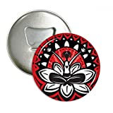 Lotus Silhouette Celebrate Mexico Mexican Round Bottle Opener Refrigerator Magnet Pins Badge Button Gift 3pcs