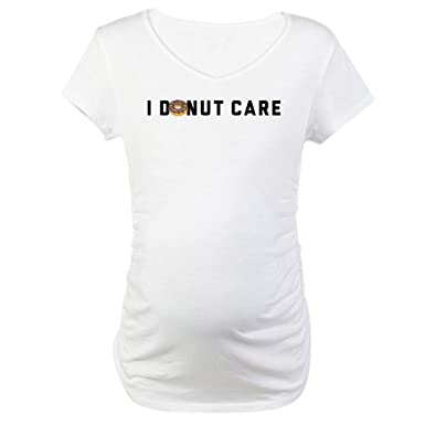 bd2ecdafff7 CafePress I Donut Care Emoji Maternity T Shirt Cotton Maternity T-Shirt