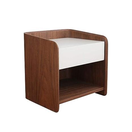 Amazon.com: Mesita de noche para dormitorio con diseño ...