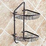 DIDIDD Shelf-2-Tier Oil Rubbed Bronze Soap Basket