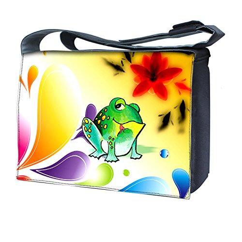 Ektor - Bolso al hombro para mujer Frog & Flowers