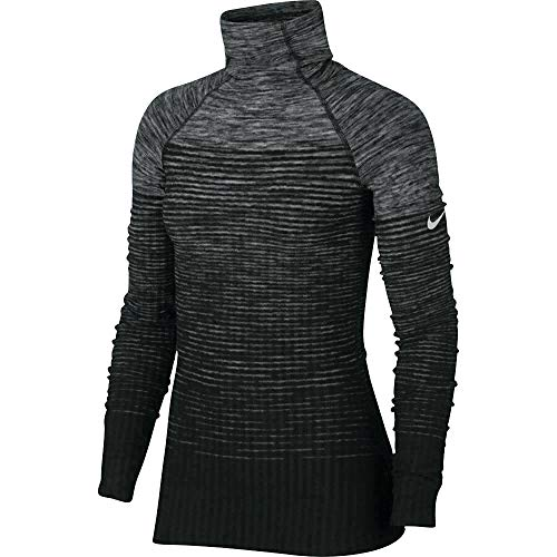 Nike Pro Women's Hyperwarm Training Top Black Grey AQ4400 021 (s)