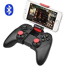 ALLCACA Bluetooth Game Controller Wireless Gamepad Rechargeable Phone Controller with Vibrating Function, Compatible with Android and IOS Phone, Tablet, TV, TV Box, VR, White