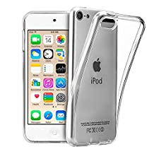 iPod Touch 6 Case,iPod Touch 5 Case,Clear TPU Case Skin Cover for Apple iPod Touch 5th 6th Gen