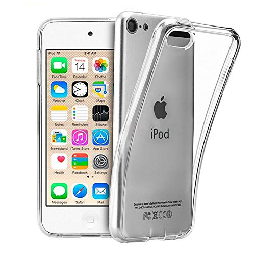 UARMOR Case for Apple iPod Touch 5 / iPod Touch 6 / iPod touch 5th 6th Generation, Slim fit Crystal Clear Flexible Soft TPU Case Cover for girls Skin Case ()