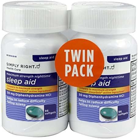 Members Mark Formerly Sleep Aid 192ct 50mg Diphenhydramine 192 Softgels