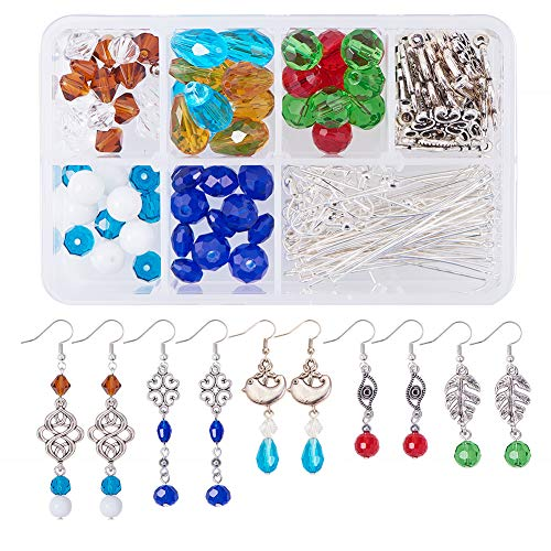 - SUNNYCLUE 1 Box DIY 10 Pairs Boho Chandelier Teardrop Dangle Earring Making Kit Jewelry Craft Beads Starter Kit Include Glass Beads, Chandelier Components Links, Earring Hooks and Jewelry Findings