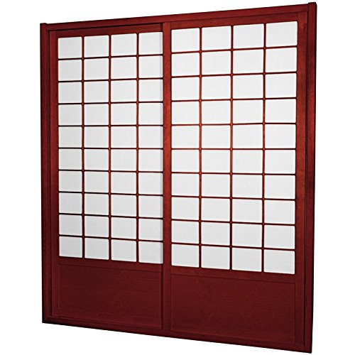 ORIENTAL FURNITURE 7 ft. Tall Zen Shoji Sliding Door Kit - (Rice Paper Doors)
