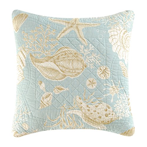 C&F Home Natural Shells Quilted Throw Pillow, Sea Shells - 14x14 Pillow ()