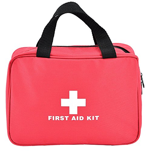 First Aid Empty Kit Bag,Lanticy Nylon First Aid Pouch Portable Medical Package Compact and Lightweight Survival Kit Pills Container for Emergency at Home Office Travel Car Outdoor Boat Camping Hiking by Lanticy