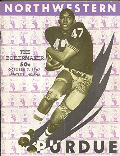 Northwestern vs Purdue NCAA Football Game Program 10/5/1968-rosters-pix-FN