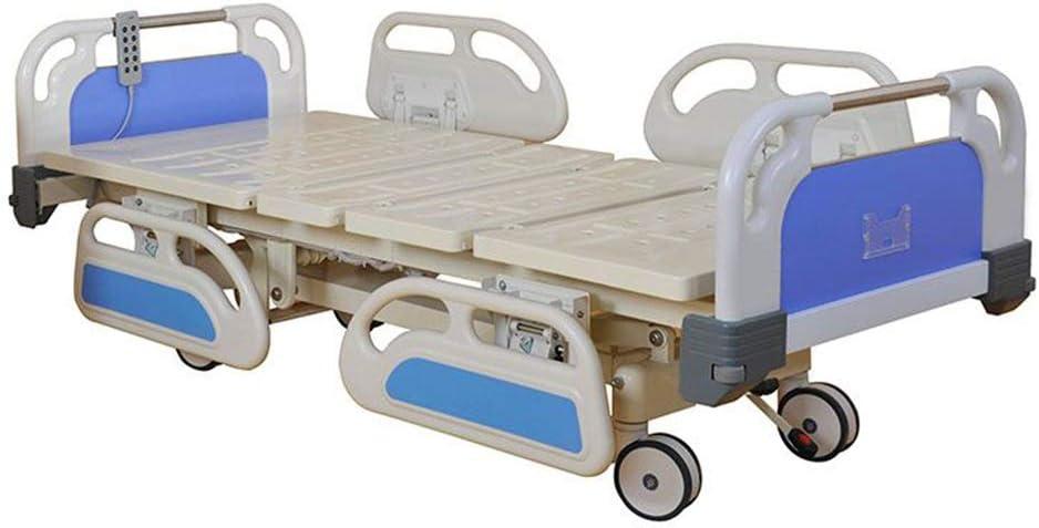 プレミアム全5機能ICU電気病院用ベッド、取り外し可能なABSヘッドボードと150mmのラグジュアリー中央制御キャスター、完全組み立てベッド