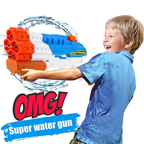 Gdaytao 1200CC High Capacity Water Guns Super Soakers with 4 Nozzles Water Blaster Pistol with 30-35 Feet Shooting Range Kids Adults Squirt Gun for Swimming Pool Beach Sand Water Fighting