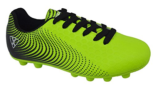 Vizari Unisex Stealth FG Green/Black Size 2 Soccer Shoe M US Little Kid by Vizari (Image #1)