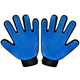 [Upgraded Version] Two-sided Pet Grooming Gloves Brushes,Patec Deshedding Tool, for Removing Pet Shedding Hair, Pet Massage and Bathing Brush or Comb, for Dogs, Cats, Horses (One Pair: for Left and Right Hands)