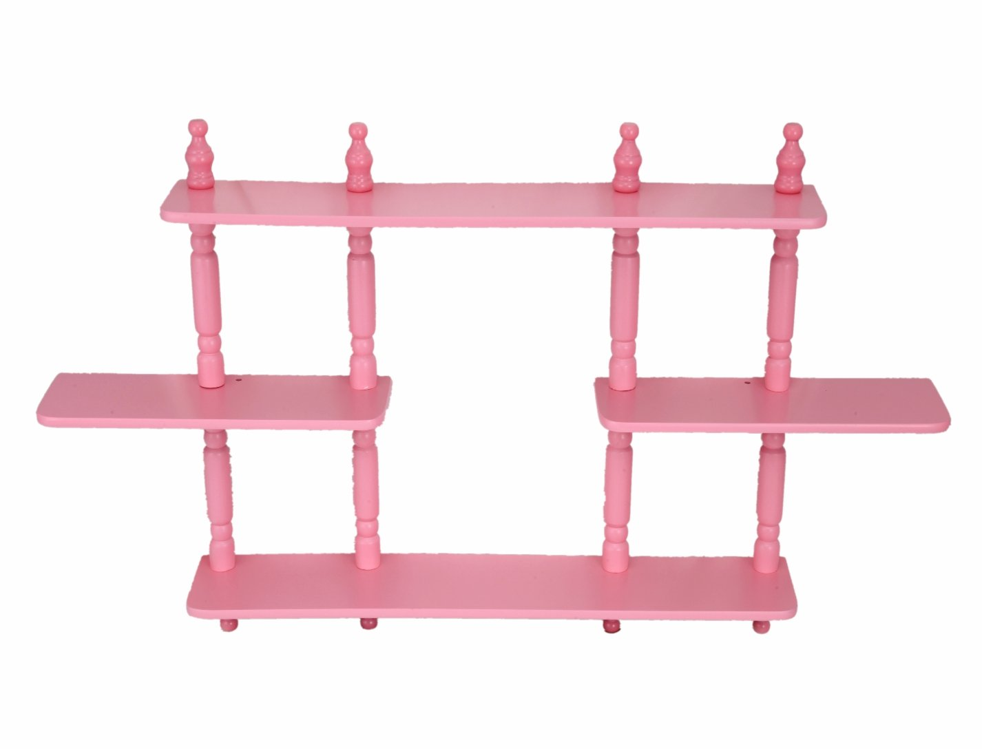 Frenchi Home Furnishing Kid's 3-Tier Wall Shelves, Pink