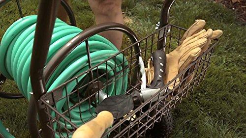 Liberty Garden 871-1 Residential Grade 4-Wheel Garden Hose Reel Cart, Holds 250-Feet of 5/8-Inch Hose - Bronze