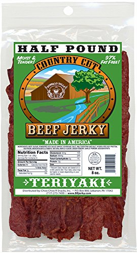 Buffalo Bills 8oz Teriyaki Country Cut Beef Jerky Pack (moist & tender teriyaki beef jerky)