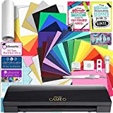Silhouette Black Cameo 3 Creative Bundle with Bluetooth, 24 Oracal 651 Sheets and 12 Siser Easyweed Heat Transfer Sheets